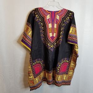 Dashiki African Print Tunic Top Shirt-Unisex